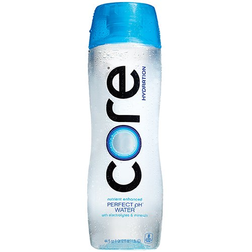 CORE Hydration, Nutrient Enhanced Water, Perfect 7.4 Natural pH, Ultra-Purified With Electrolytes and Minerals, Cup Cap For Sharing, 44 Fl Oz, Pack of 12 by CORE