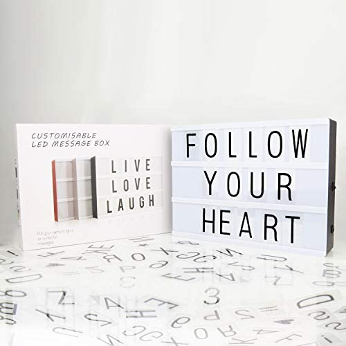 LitEnergy Light Up Your Life A4 Size Cinematic Light Box with Letters and LED Light