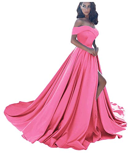 Dressesonline Women's Off The Shoulder A Line Split Prom Evening Dresses Long Formal Gown US6 Hot -