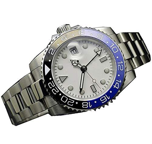 - 45mm Parnis Sapphire Glass GMT Master Black &Blue Bezel Men Automatic Watch