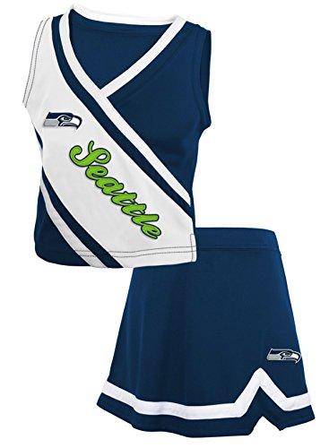 Seattle Seahawks Team Spirit Toddler 2-pc Cheerleader Dress - Navy (4T)