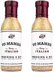 Low Carb Gourmet Italian Dressing and Dip by Yo Mama's Foods - Pack of (2) - Low Carb, No Sugar, Low Sodiu