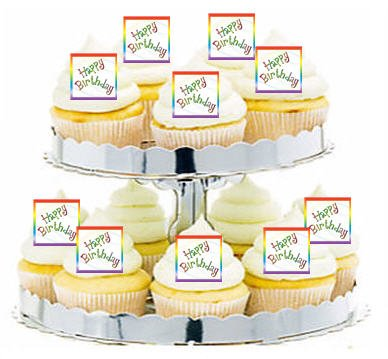 CakeSupplyShop-Item24338-Rainbow-Happy-Birthday-Music-Notes-Cupcake-Food-Appetizer-Decoration-Topper-Picks-12ct