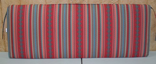 (1) Outdoor Patio Bench Settee Cushion ~ Brick Turquoise Stripe ~ 17 x 45 x 3.5NEW SHIPPING INCLUDED (For Cushions Bench Sale)