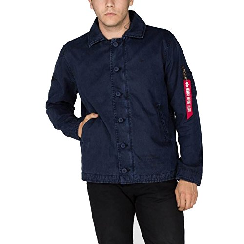 Alpha Utility Uomo 07 blue Custom rep Giacca Blau Authentic rfAqHWUr