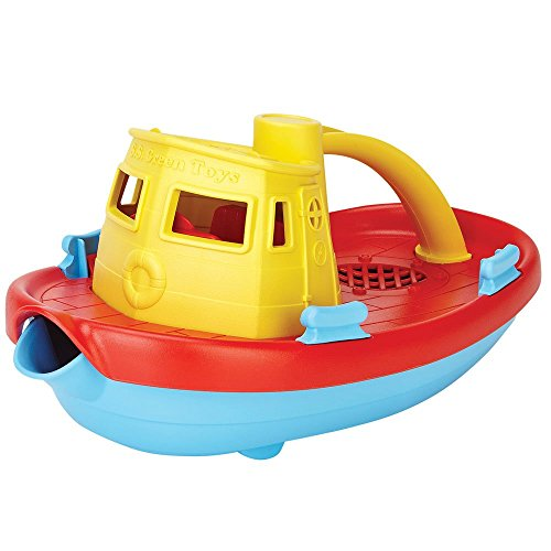 41JBXt0pA6L - Green Toys My First Tugboat - BPA, Phthalates Free Bath Toys for Kids, Toddlers. Toys and Games