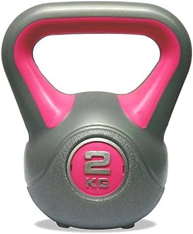 2/kg DKN Unisex Vinyl Kettlebell grau//pink