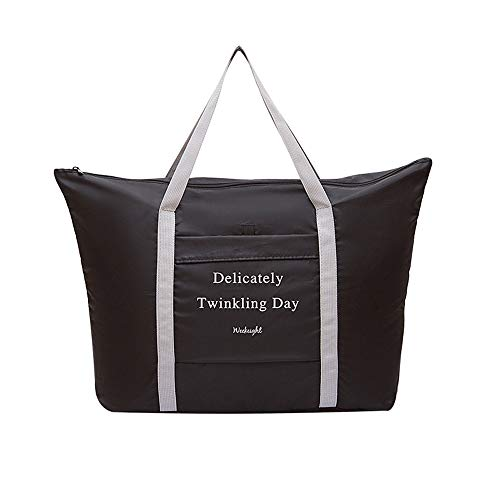 Travel Foldable Duffel Bag for Women & Men, Waterproof Lightweight Carry On Luggage for Sports, Vacation, Gym
