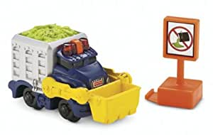 GeoTrax Lighted Vehicle: Sparkle 'n Clean Garbage Truck