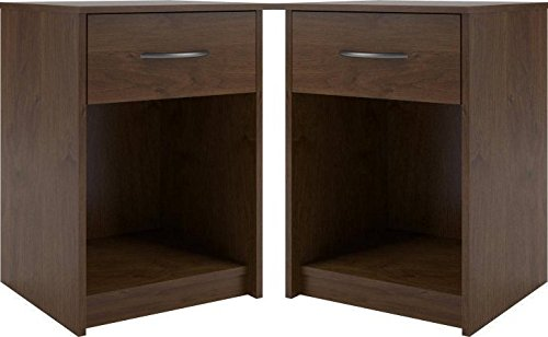 Night Stand End Table Set of 2 by Mainstay