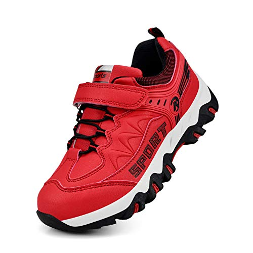 Girls Shoes Hiking - MARSVOVO Girls Shoes Waterproof Hiking Athletic Running Shoes Red Size 11.5