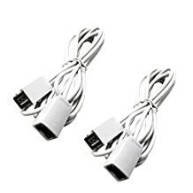 FBApayipa 2pcs White 3M 10ft Extension Cable for Nintendo NES Classic/Mini Edition Controller and Wii Nunchuck and Wii Classic Controller Extension Cords Extender Gamepad