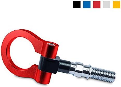 Abschleppöse Abschlepphaken Aus Eloxiertem Aluminium Gewindemasse M18 Farbe Rot Tow Hook Für Rennsport Auto