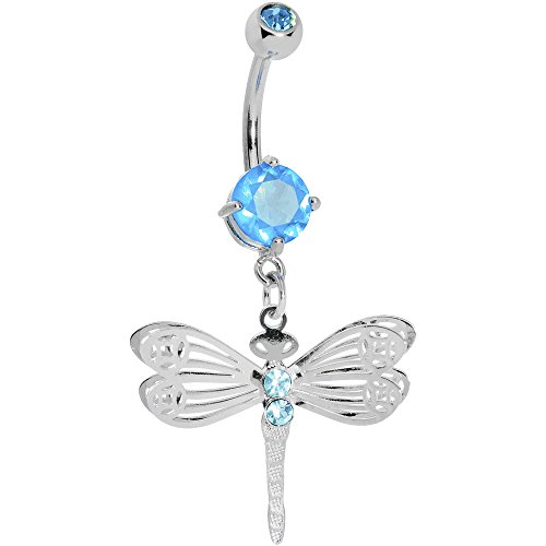 - Body Candy Brilliant Blue Lace Wing Dragonfly Belly Ring