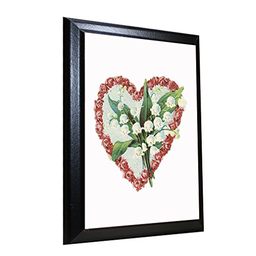 Flower Heart Lilies Of The Valley Wall Plaque Sign 5 in x (Flower Heart Plaque)