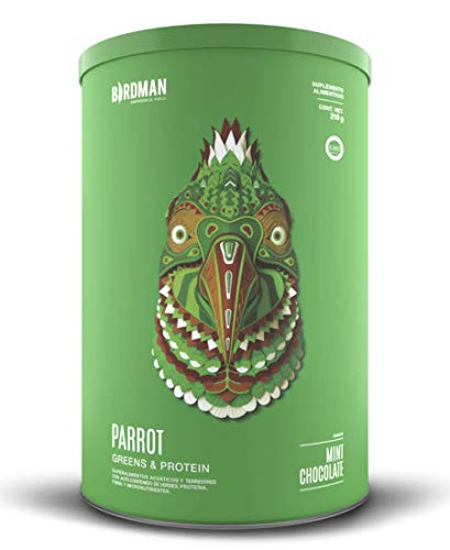 Parrot Greens & Protein Birdman (210gr) Súper Alimento Verde y Proteína (Vegano) en Polvo Certificado Kosher Sabor...
