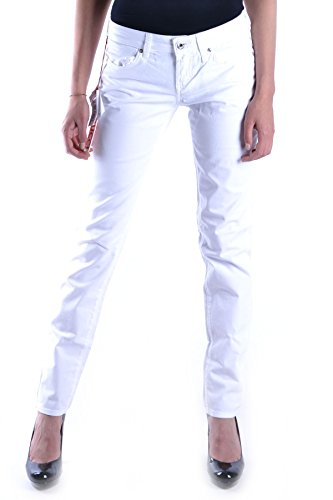 Jeans Coton Fiorucci Femme Blanc MCBI123002O qxwTH0w