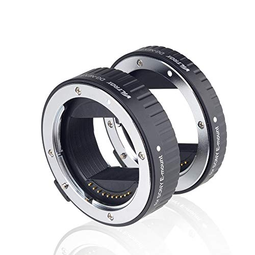 Viltrox DG-NEX Metal Mount Auto Focus AF Macro Extension Tube Ring Set 10mm,16mm for Sony E Mount Mirrorless Camera A9 A7RIII A7RII A7III A7II A7R A7 A6300 A6500 A6300 NEX-7