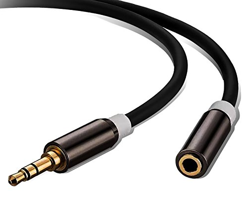 Audio Auxiliary Extension Cable 50 Feet,Ruaeoda 3.5mm Male to Female Stereo Audio Extension Cable Gold Plated Compatible for iPhone, iPad or Smartphones, Tablets, Media Players-aluminum alloy shell by Ruaeoda