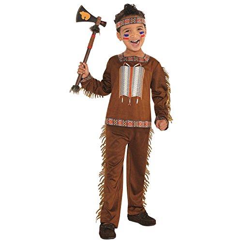 amscan Boys Native American Costume - Small 4-6, Multicolor