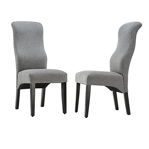 Wood Back Upholstered Chair - 9