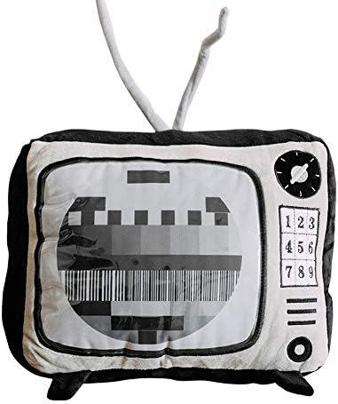 [ウンセン]テレビ枕クッションシミュレーションぬいぐるみ人形のベッドの誕生日プレゼントの創造的な女性 (ブラック,45cm)