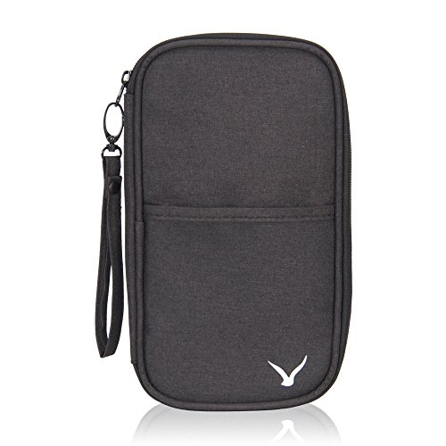 Hynes Eagle Travel Passport Protection Wallet Passport Holder Credit Card Wallet, Black