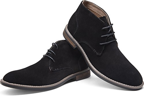 Pictures of JOUSEN Men's Chukka Boots Classic Suede Black 10 M US 2