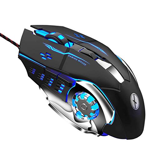 Xmate Zorro Wired USB Gaming Mouse, 3200 DPI Optical Sensor, RGB Lighting, 6 Mechanical Buttons, Lightweight & Durable…