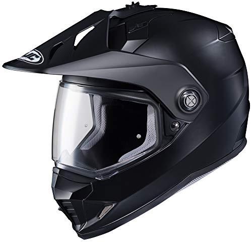 HJC Solid Mens Semi-Flat DS-X1 Street Bike Motorcycle Helmet - Matte Black X-Large