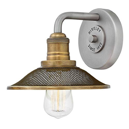 Hinkley 5290AN Rigby Wall Sconce, 1-Light 100 Watts, Antique Nickel Antique Style Wall Sconces