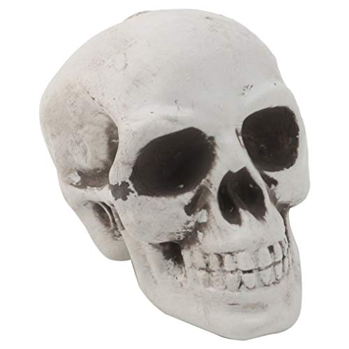 RXIN Skull Decor Prop Skeleton Head Plastic Halloween Day Coffee Bars Ornament -