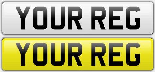Pair Standard Number Plates 100% MOT Compliant - Car / Van Asscher Design