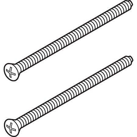 (Delta Faucet RP196RB Escutcheon Trim Screws (2), Venetian Bronze)