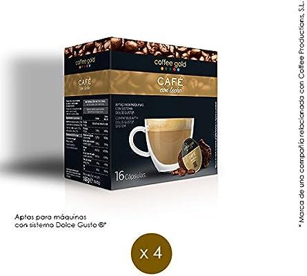 CAFÉ CON LECHE | x64 - Aptas máquinas Dolce Gusto®: Amazon.es ...