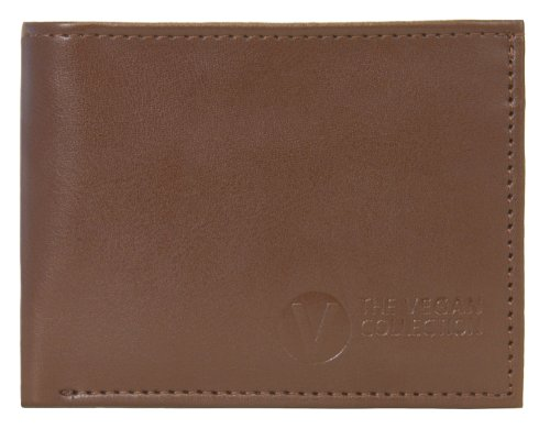 The Vegan Collection Men's Jeffrey Brown Coin Bi-Fold