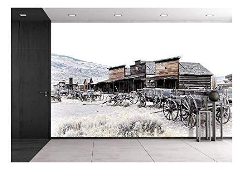 Cody Wyoming Old Wooden Wagons in a Ghost Town United States