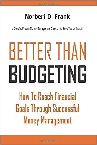 Better than Budgeting: How to Reach Financial Goals Through Successful Money Management by Frank Norbert D. (2014-11-15)