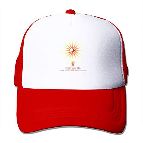 90d729605d4c1 OBHF Cap Chris Cornell Higher Truth Cool Trucker Hats for Women and Men Red