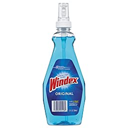 Windex with Sprayer, Blue, 12-Ounce Bottles (Pack of 12)