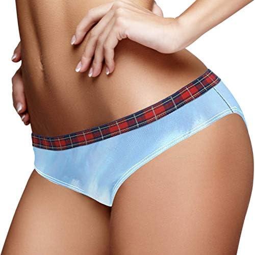 DEYYA Women Underwear Mountain Cloud Cotton Hipster Stretch Bikini Panty Brief