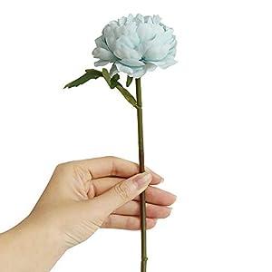 Mikilon Artificial Flowers Silk Roses Fake Bridal Wedding Bouquet for Home Garden Party Floral Decor 1 Pcs 37