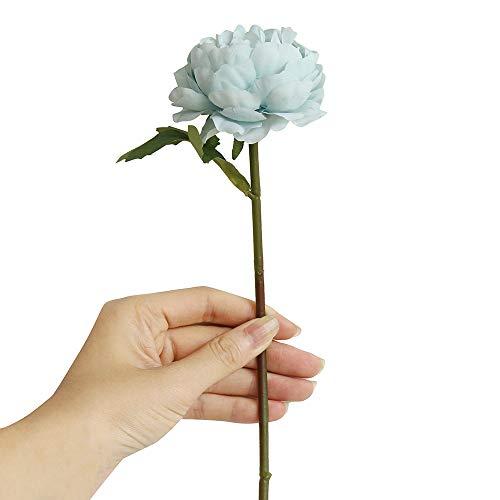 Hide on bush Artificial Fake Flowers Plants, Cloth Night Rose Flower Arrangements Wedding Bouquets Decorations Plastic Floral Table Centerpieces for Home Garden Party Decor (Blue) ()
