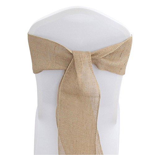 Buy burlap chair sashes 50