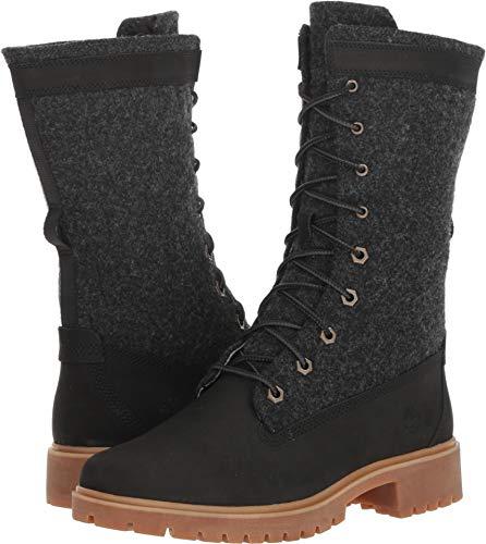 (Timberland Women's Jayne Warm Gaiter Boot Black Nubuck 8.5 B US)