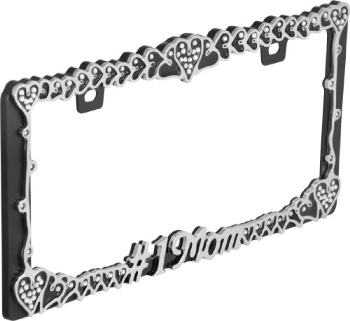 Bell Automotive 22-1-46447-8 Universal #1 Mom Design License Plate Frame