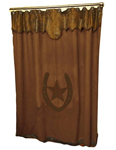 Other M & F Western Unisex Star and Horseshoe Shower Curtain Brown One ()
