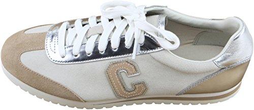 Fashion Suede Silver Chalk Fabric Ankle Women's Ian And Nylon High Sneaker Coach Ew81q1