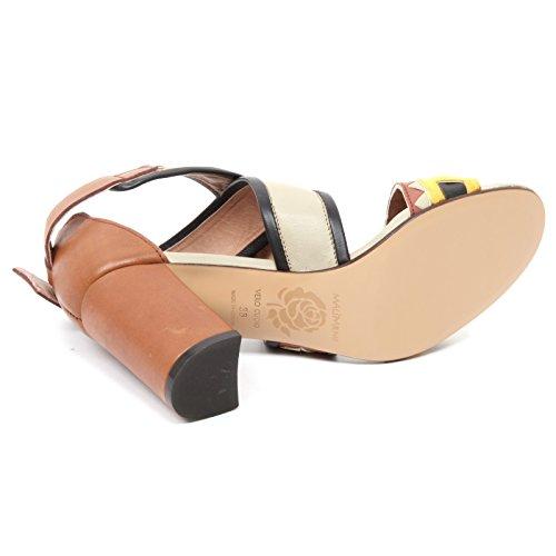 Sandalo Shoe Stripes Sandal Maliparmi avorio giallo Marrone Donna Woman B4942 Scarpa Multi Hxaw0dWqX