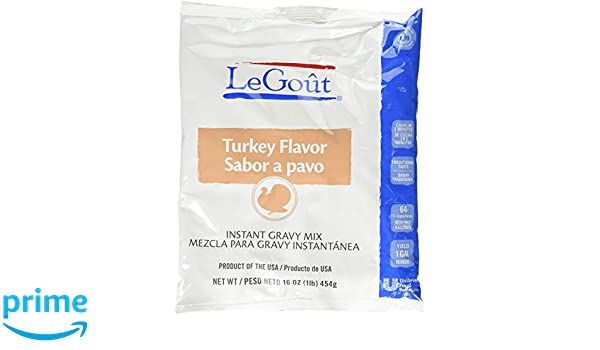 Amazon.com : LeGout Instant Gravy Mix Turkey Flavor 1 pound (Pack of 4) : Grocery & Gourmet Food